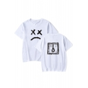 Popular Lil Peep Sad Face Printed Summer Casual Loose T-Shirt for Boys