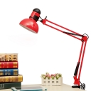 Arm Adjustable Desk Light Modern Design Iron Single Head LED Desk Lighting in Red for Bedside
