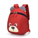 21*9*25cm Lovely Cartoon Bear Striped Ear Shaped School Backpack for Kids