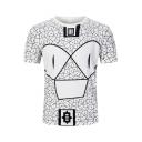 New Stylish Maya Pattern Short Sleeve Loose Fitted T-Shirt