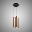 Modern Rectangular LED Cluster Pendant Light Metal Multi Light LED Drop Light in Gold