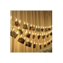 Christmas Festival Ornament LED String Light 20 Photo Clamps 110V