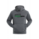 New Popular Letter LOADING PLEASE WAIT Graphic Print Fitted Men's Pullover Hoodie