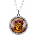 New Arrival Stylish Harry Potter Badge Logo Printed Gemstone Necklace
