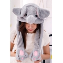 Tik Tok Kpop Moving Ear Grey Elephant Hat Cap