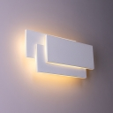 Designers Style Rectangle Wall Lighting Aluminum LED Wall Sconce in White for Restaurant