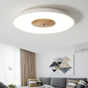White Dome LED Flush Mount Nordic Style Contemporary Metal Ceiling Light for Restaurant