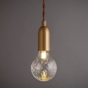 Gold Finish G9 Glass Pendant Post Modern Style One-Light Mini Hanging Lamp