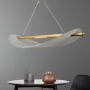 Post Modern Linear Led Hanging Lights Metal and Rubber 1 Light Pendant Lamp in Champagne/Clear