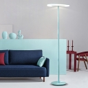Acrylic Disc LED Floor Lamp Macaron Contemporary Floor Light for Living Room Children Room