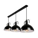 Loft Dome Shape 3 Light LED Multi Light Pendant in Black Finish