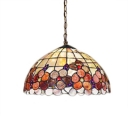 Classic Art Tiffany-Style 3 Light Ceiling Fixture with 12