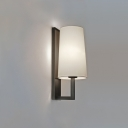 Contemporary Tapered Lighting Fixture Plastic Single Light Wall Light Sconce in Chrome