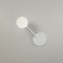 White Spherical Wall Mount Light Simplicity Modern Frosted Glass Single Light Wall Lamp