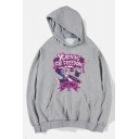 Cool Cartoon Letter YEARNING FOR FREEDOM Printed Long Sleeve Casual Sports Cotton Hoodie