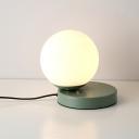Macaron Colorful Sphere Table Lamp White Glass Single Light Desk Light for Children Room