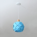 Sky Blue Bucket Drop Light Modern Fashion Iron Single Light Decorative Ceiling Pendant Light