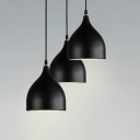 Black Teardrop Suspended Light Designers Style Aluminum 1 Light Drop Light for Dining Room