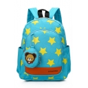 24*13*31cm Large Capacity Fashion Star Pattern School Backpack for Kids