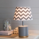 Zig Zag Table Lamp with Gray Resin Base Contemporary Study Room Single Light Table Light