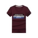 Unique Letter PURECOTTON BINYU QUALITY Print Cotton Basic T-Shirt