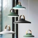 Painted Finish Basket LED Pendant Light Nordic Style Metal Hanging Pendant Light 9.5