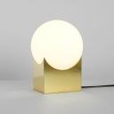 Gold Ball Desk Light Modern Chic Milky Glass Creative Metal 1 Light Table Light for Living Room