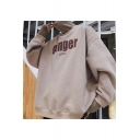 Winter's Warm Thick Patched High Neck Long Sleeve Letter GINGER Printed Oversized Cool Pullover Sweatshirt