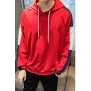 Teenagers New Trendy Colorblock Long Sleeve Loose Casual Fashion Hoodie