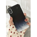 Basic Simple Black Night Sky Moon Printed Frosted Mobile Phone Case