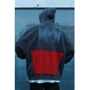 Street Style Fashion Colorblock Cartoon Print Boxy Relaxed Big Oversized Hoodie