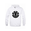 Men's New Popular Logo Print Front Big Casual Loose Fit Sports Hoodie