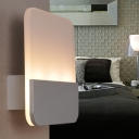 Rectangle Wall Lamp Minimalist Modern Acrylic 3 Bulbs Wall Lighting in White/Warm for Porch