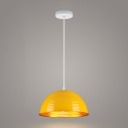 Colorful Contemporary Dome Drop Light Aluminum Single Light Hanging Light for Restaurant
