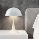 Semicircle Desk Light Modern Fashion Metal 1 Head Table Lamp in White for Bedside Bedroom