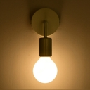 Open Bulb LED Sconce Lighting Modernism Metal 1 Light Wall Light Fixture in Black