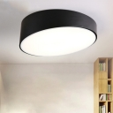 Acrylic Geometric Ceiling Light Minimalist Flush Light Fixtures in Black for Living Room