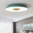 Dome LED Flush Light Fixture Modern Gray/Green Acrylic Ceiling Flush Mount for Children Bedroom