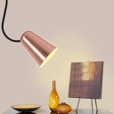 Copper Dome Hanging Light Simple Modern Pendant Light in Slick Polished for Bedside