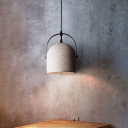 Stone Shade Dome Ceiling Light Contemporary Rotatable Hanging Lighting in White