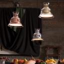 Bell Shape Pendant Light Modern Chic Steel Hanging Light in Chrome/Gold/Rose Gold
