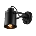 Black 1 Spotlight Cylinder Shade Small LED Wall Sconce