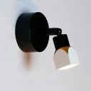 Rotatable 1 Light Geometric Sconce Light Contemporary Metallic LED Wall Lamp in Warm/White
