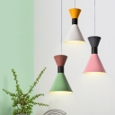 Hourglass Ceiling Pendant Lamp Colorful Nordic Aluminum Single Head Lighting Fixture