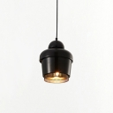 Black Finish Bell Suspended Light Designers Style Metal 1 Light Drop Light for Bedroom