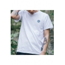 Creative Letter UPSOAR Print Basic Short Sleeve Loose Fit Unisex T-Shirt
