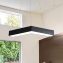Acrylic Can be Spliced Pendant Light Simple Style Black Finish 18