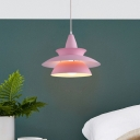 Geometric Hanging Light Colorful Fashion Length Adjustable Drop Light for Children Room