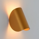 Post Modern Arched LED Sconces Aluminum Single Bulb Wall Mount Lighting in Gold Finish