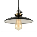 Industrial Style 1 Light Pendant with Saucer Shade